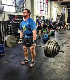 "Strength Deadlift FTB 1-1-1-1-1-1-1  Conditioning ""OTB"" 21-15-9-15-21 OH Squats 95/65# RX+115/80# TTB"