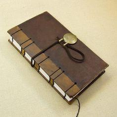 Coptic Stitch Journal, Brown Antiqued Leather (II \/ III)
