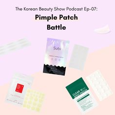Battle of the Pimple Patches #podcast #beautypodcast #skincarepodcast #kbeautypodcast K Beauty Routine, Cosrx, Fashion Story, Korean Skincare, Pimples, Korean Beauty, Patches, Cards Against Humanity, Skin Care
