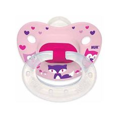 NUK Woodlands Pacifier, 6-18 Months, 4-Pack, Silicone, Girl... ❤ liked on Polyvore featuring baby stuff
