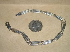 Signed Italy Sterling Silver 3 Strand Vintage by drjewelsvern