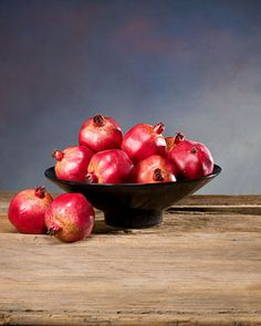 Decorative Artificial Pomegranate - Olive Red
