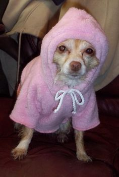 Every girl needs a robe after the bath!