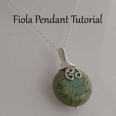 Tutorial Fiola wire wrapped pendant