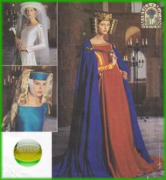 This picture is what first got me interested in historical fashion.  I remember lying in bed as a child looking through this simplicity pattern book every night.