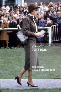 March 13, 1981: Lady Diana Spencer at Sandown Park Racecourse, Surrey.