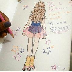 É linda até em desenho!