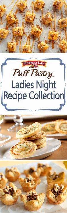 Ladies Night Recipe Collection. Sometimes, a night with our girlfriends is all we need! Whether hosting at your house or headed to a friends, tasty treats are essential. Find our favorite Ladies Night recipes here, full of sweets like Salted Caramel Crostini and savory snacks like Parmesan Swirls. Pour a drink and grab a bite!