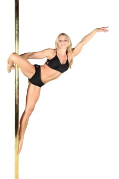 Cupid pole dancing move. So proud of myself got this move the first night i learned it!
