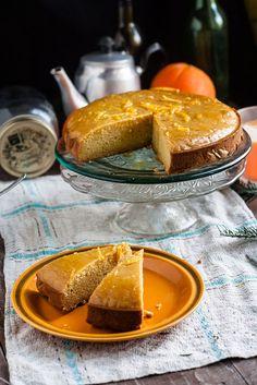 Wegan Nerd - Kuchnia roślinna : CIASTO POMARAŃCZOWE Z POLENTY. BEZGLUTENOWE. Healthy Sweets, French Toast, Nerd, Gluten Free, Cooking Recipes, Treats, Vegan, Breakfast, Cakes