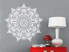Mandala Wall Decal Ornament Geometric Indian Moroccan Pattern Namaste Yoga C69