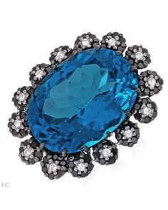 stunning blue white and silver tones bling bling