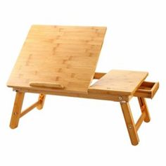 Large Laptop Desk Nnewvante Table Adjustable Bamboo Foldable Breakfast Serving Bed Tray Table w' Tilting Top Drawer Leg Cover Laptop Desk For Bed, Laptop Tray, Lap Desk, Desk Bed, Bed Sofa, Bed Tray Table, Lap Table, Portable Desk, Mesh Chair