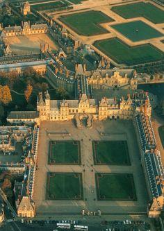 Chateau de Fontainebleau, in Fontainebleau, France.