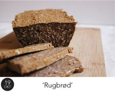 Et glutenfrit 'rugbrød' med kogte ris bliver dejlig blødt indeni. Og så smager det skønt!