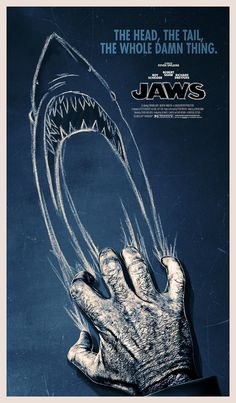 Jaws by Scott Woolston   Some great alternative Jaws posters in this list.