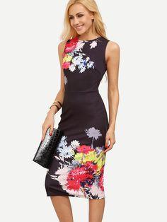 Shop Multicolor Floral V Back Sleeveless Sheath Dress online. SheIn offers Multicolor Floral V Back Sleeveless Sheath Dress & more to fit your fashionable needs.