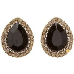 Charlotte Russe Faceted Teardrop Stud Earrings ($6) ❤ liked on Polyvore featuring jewelry, earrings, black, diamante jewelry, facet jewelry, gem jewelry, charlotte russe jewelry and charlotte russe