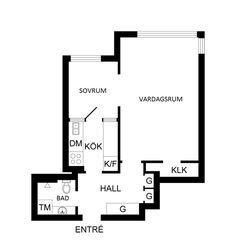 Pequeño Apartamento en Sibyllegatan Estocolmo con 36 m²