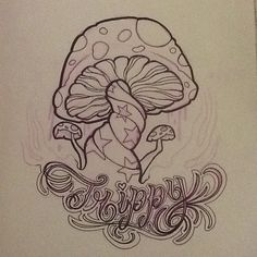 Art Heart • mushroom trippy wip dontstealmyshit sketch