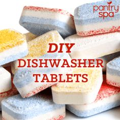 Dishwasher tablets are one of the biggest expenses you can have. Cut down on costs and keep the clean with this dishwasher tablet recipe. recipe Top Kitchen Cleaning Tips Homemade Cleaning Supplies, Cleaning Recipes, Cleaning Hacks, Cleaning Solutions, Diy Cleaners, Cleaners Homemade, Homemade Soaps, Household Cleaners, Powerballs Recipe