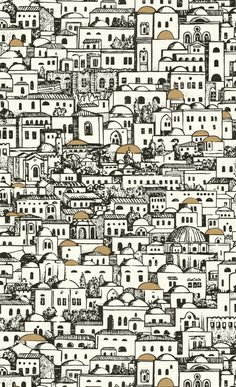 Cole and Son Fornasetti wallpaper. Looked for a larger image of this, which I found on a Swedish blog - Bogrenz byggblogg