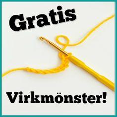 Gratis, sorterade virkmönster på svenska! | Virknytt