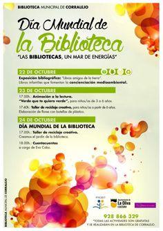 Actividades en la Biblioteca de Corralejo (La Oliva, Fuerteventura) dentro de las III Jornadas BiblioSolidarias. Fuente: http://www.laoliva.es/