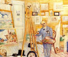 The Skeleton Painter (1895 or 1896). James Ensor (Belgian, 1860-1949). Oil on panel. Koninklijk Museum voor Schone Kunsten, Antwerp.