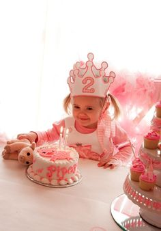"Photo 14 of 47: 2nd Birthday Party / Birthday ""Piper's Pink Piggie Princess Party"" 
