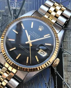 Rolex Oyster Perpetual DateJust Junior from 1986. Refnr: 68274 to make your wrist look good #watch #rolex #rolexwatches | rolex watches for men | rolex horloge voor heren | rolex horloge voor mannen | vintage watches | vintage horloges | horloges heren | SpiegelgrachtJuweliers.com