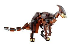 Learn more about this commissioned build here. Lego Dinosaur, Lego Sculptures, Lego Jurassic World, Transformers Characters, Recycle Cans, Lego Design, Gears Of War, Lego Models, Lego Projects