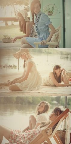 This is such a dreamy and romantic fashion shoot, imagine creating that laid back feeling at home too. Pretty faded floral cushions, pale pink bird cages and a feminine touch is just the start - simply divine.