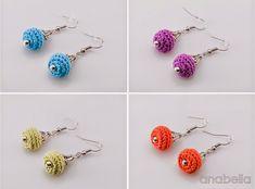 Tiny crochet earrings by Anabelia