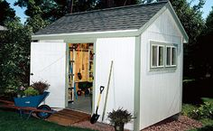 There are two choices when it comes to building a wooden garden shed: You can buy a kit--and put up with the manufacturer's choice of materials and layout--or you can design a structure to suit your own particular needs and tastes. This approach may cost