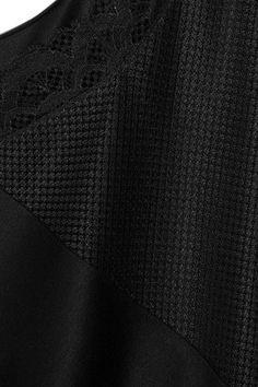 Hanro - Eleonora Lace-paneled Modal And Silk-blend Jersey Nightdress - Black -