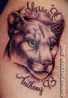 Puma Tattoo Designs (minus the personalized writing) - Bing Images