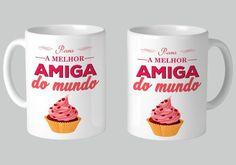 Caneca De Porcelana A Melhor Amiga Do Mundo - R$ 19,90