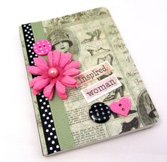 Inspired Woman Mini Journal  Mini Notebook  door PrettyByrdDesigns
