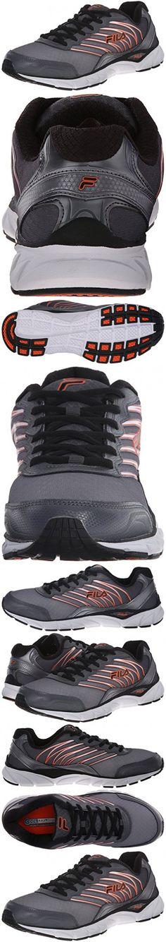 fila running shoes orange. fila men\u0027s quadrix running shoe, black/dark silver/fila red, 10.5 m us   mens shoes pinterest orange