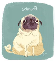 Did a pug for a warm-up tonight, but stopped at a pug. Not a lot of momentum to go around right now, so I guess it's a one-pug kind of night.
