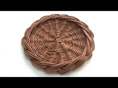 (11) Подставка под горячее с бортиком. Плетение из газетных трубочек - YouTube Baskets On Wall, Storage Baskets, Gift Baskets, Wicker Baskets, Sewing Baskets, Flower Girl Basket, Wicker Furniture, Bride Gifts, Easter Baskets