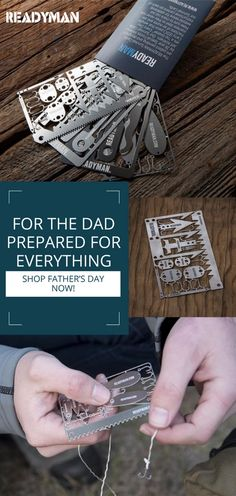 Give your dad something that he needs and wants with Readyman's survival cards. Coming in a variety of options, our cards help you be prepared for anything, including Father's Day, anniversaries, and birthdays.