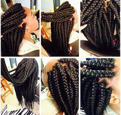 Jumbo box braids the same size i want mine next!