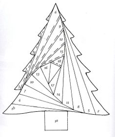 Fabric christmas tree pattern paper piecing 50 ideas for 2019 Patchwork Quilt, Paper Pieced Quilt Patterns, Barn Quilt Patterns, Mini Quilts, Pattern Paper, Card Patterns, Iris Folding Templates, Iris Paper Folding, Iris Folding Pattern