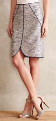 Eclat Tweed Pencil Skirt - cute for work Tweed Pencil Skirt, Tweed Skirt, Pencil Skirts, Work Skirts, Skirt Outfits, Work Outfits, Stylish Outfits, Henri Bendel, Work Attire