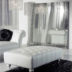 White Leather couch Livingroom