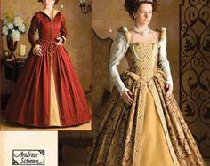 3782 semplicità, Womens medievale, rinascimentale abito, abito di epoca elisabettiana, abito del XVI secolo,