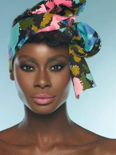 Adore her!♥. #gorgeous, #turban, #black beauty, #stunning. Via: African Fashion