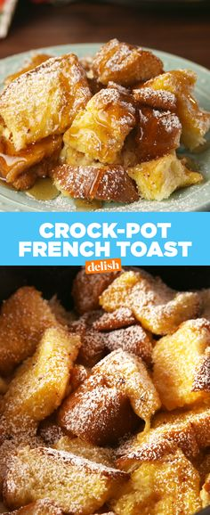 Literally ANYONE can make this stupid-easy Crock-Pot French Toast. Get the recipe at Delish.com. #frenchtoast #crockpot #slowcooker #delish #crockpotrecipe #slowcookerrecipes #recipes #easyrecipes #breakfast #brunch #syrup